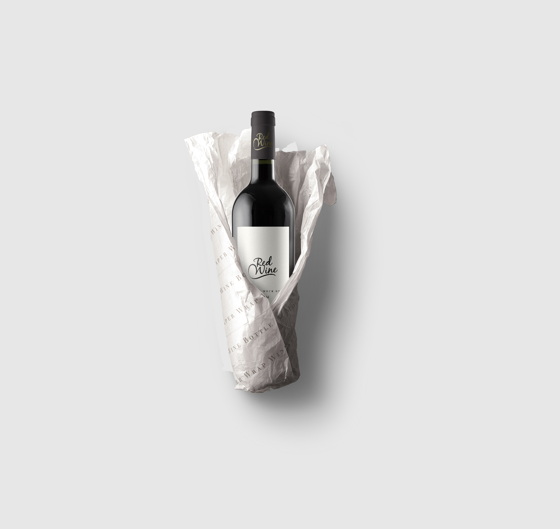 Paper-Wrap-Wine-Bottle-Mockup
