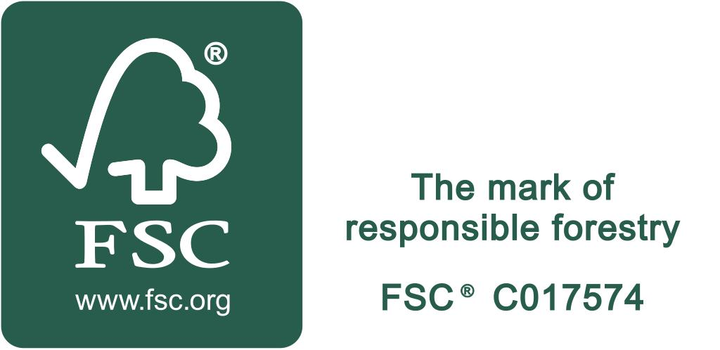FSC C017574 – Promotional with text – Landscape White On Green